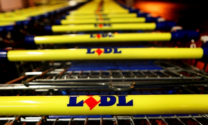 Kernel capital investment – photo of LIDL trolleys